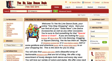 Line Dance Shopping Cart | OpenCart